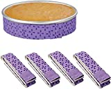 Bake Even Strip(4 Piece),Super Absorbent Thick Cotton, Cake Pan Dampen Strips for Baking Cake