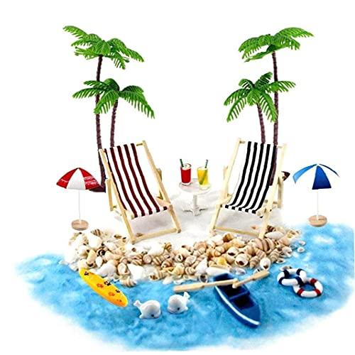 EElabper Viaggio Soldi del Regalo Beach Micro Mini Paesaggio Sedia a Sdraio Ombrellone Palma Beach...