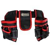 Spares2go Werkzeuggürtel mit 20 Taschen, strapazierfähig, für Schreiner, Tischler, Bauarbeiter, mit Nagel-Beutel