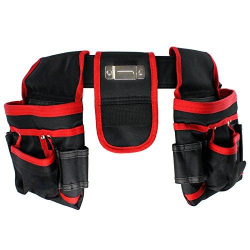 Cinturón de herramientas de 20 bolsillos Spares2go, resistente, para carpintería y construcción