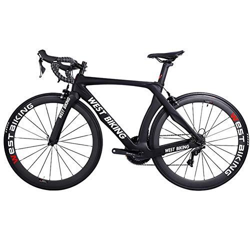 West Biking Carbon Fiber Road Bike Ultralight Shifting Windbreaker 22 Speed Professional Competition Riding