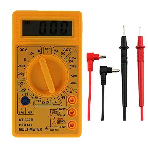 rongwen DT-830B Mini-Multimeter, multifunktional, Gelb