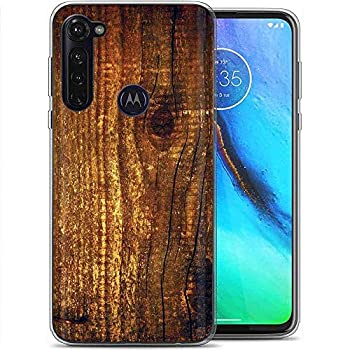 Naked Shield Clear Flex Gel Phone Case Compatible for Motorola Moto G Stylus,Wood Print Print,Light Weight Unbreakable Flexible Surround Edge Protection,Designed in USA