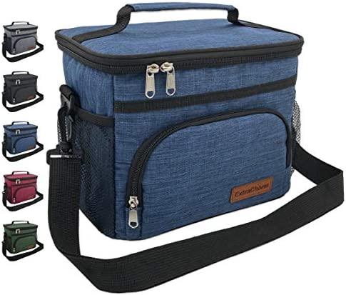 Insulated Lunch Bag for Women Men Reusable Lunch Box for School Office Picnic Hiking Beach Leakproof product image