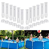 WETOZON 12Pcs Plastic Pool Joint Pins Seals (2.16inch) for Intex 13ft-24ft (2016 & After) Above Ground Rectangular Round Metal Frame Intex Pool Joint Intex Pool Replacement Pins