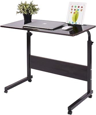 Portable Mobile Laptop Desk Computer Student Laptop Desk Height Adjustable Wooden Laptop Desktop Computer Standing Desk Mobile Workstation Multi-Color