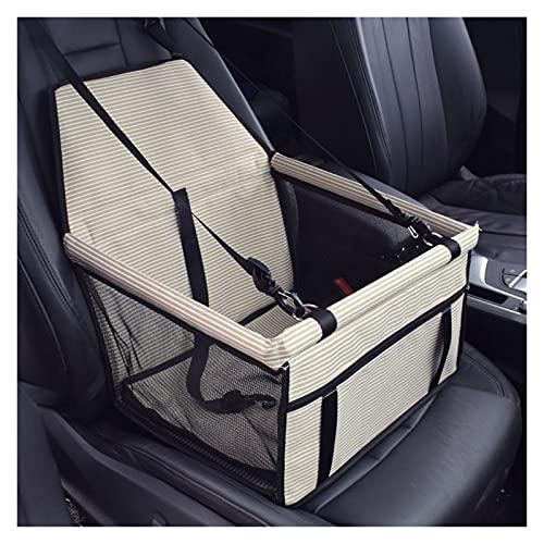 Coprisedile Auto Cane Pet Cat Dog Car Booster Seat Seat Pet Bag Hammock Nylon Viaggio impermeabile 2 in 1 Vettore per cani Pieghevole Copertura spessa Esterni 2021 ( Color : C-Yellow-whitestripe )