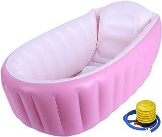 ベビーバス バスタブ お風呂 浴槽 空気入れ ふかふか 折りたたみ ピンク