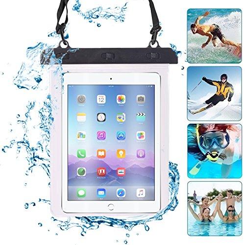 i-sonite (Negro) Universal 9Pulgadas/10Pulgadas Saco seco Transparente fijación para la protección Impermeable de la Tablet, Pasaporte, Plata submarina BQ Edison 2Quad Core 16GB 2GB RAM
