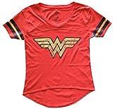 Wonder Woman Juniors Foil Logo Tee Shirt XL
