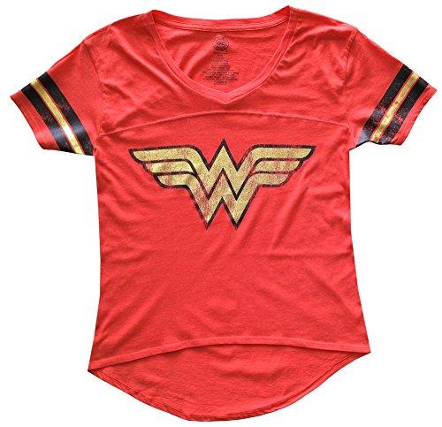 Wonder Woman Juniors Foil Logo Tee Shirt