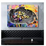 Suuyar Wall Art Picture Colorful Dollars Money Bags Posters Canvas Paintings Modern Posters Decor Quadros Canvas Prints -60x80cm No Frame