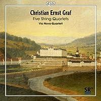 クリスティアン・エルンスト・グラーフ:5つの弦楽四重奏曲