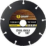 Multi Wheel GRAFF® Termit Disco de Corte para Amoladora 115mm / 125mm, Corte Fino de Madera, Laminados, Plástico (125 mm)