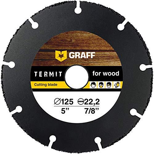 Hartmetall Flexscheibe für Holz GRAFF Termit 125mm - Winkelschleifer Multi Wheel Trennscheibe (wood carving disc) zum Schneiden von Holz, Kunststoff und Plastik, Speedcutter (125 mm)