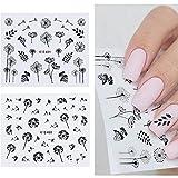 2 PC/Set de uñas 3D Etiqueta Diente de león Flor Adhesivo de Transferencia del Arte del Clavo Tip Pegatinas de uñas Al Agua Pelicula para Unhas