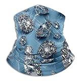 LREFON Piedras Preciosas Transparentes en Panel Azul, Polaina para el Cuello, Bandana, Calentador de Cuello, pasamontañas para Hombres, Mujeres, protección contra el Polvo del Viento y el Sol