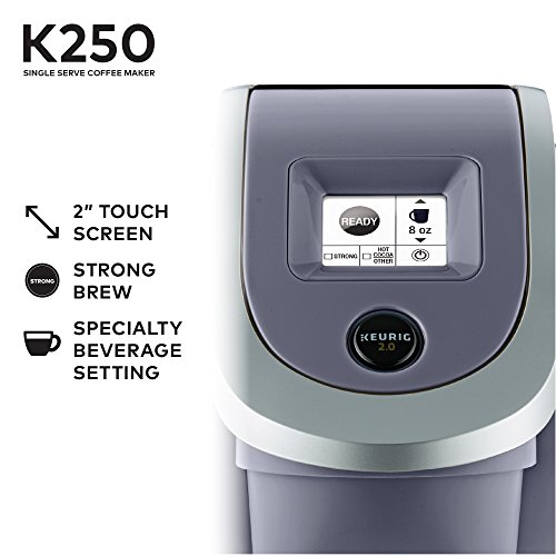 Keurig K250 Coffee Maker Touch Screen Controls