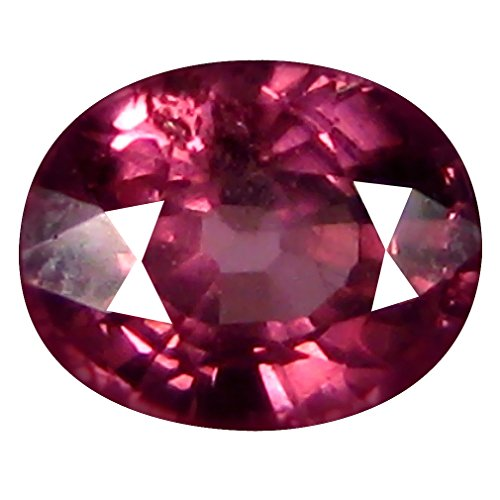 ロドライトガーネット ルーズジェームズ 1.05 ct AAA+ Oval Shape (6 x 5 mm) Pinkish Red Tanzanian Rhodolite Garnet Gemstone