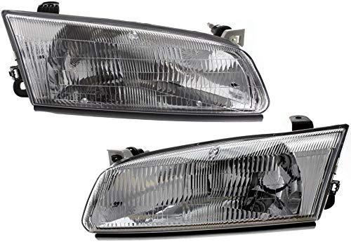 Headlight Assembly Compatible with 1997-1999 Toyota Camry Halogen Passenger and Driver Side