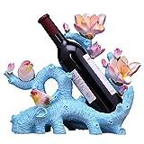 Zpong Weinregal 35 * 17 * 31 cm, Harz Weinflasche Regal Wein Display Rack Wein Set Hochzeitsgeschenk