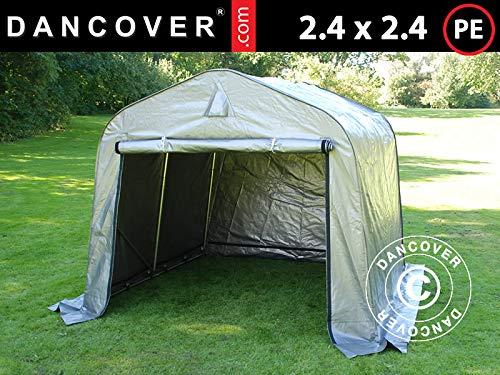 Dancover Lagerzelt Zeltgarage PRO Lagehalle 2,4x2,4x2m PE, Grau