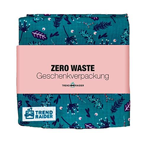 TrendRaider ZeroWaste wiederverwendbares Geschenkpapier, nachhaltig, 100% BIO-Baumwolle