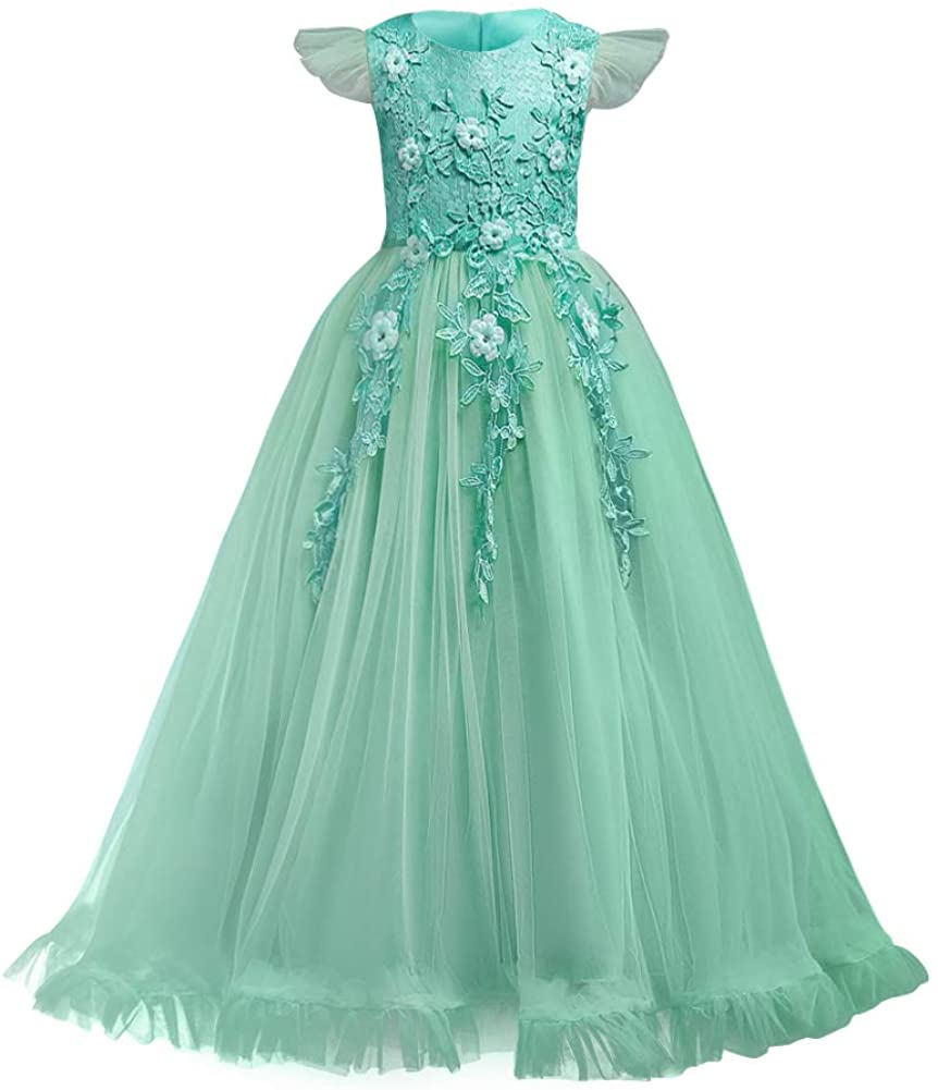 Max 80% OFF Flower Girls favorite Maxi Dress Bridesmaid Princes Pageant Party Wedding