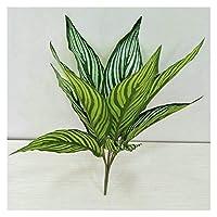ホームインテリア 人工鉢植え シミュレーション竹の葉ガーデンバルコニーホームデコレーション花の写真の小道具 壁の装飾 (Color : C)