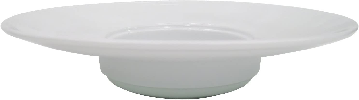 Amazon Com Cac China Hmy 122 10 Inch Harmony Porcelain Wide Rim Pasta Bowl 7 Ounce White Box Of 12 Pasta Bowls