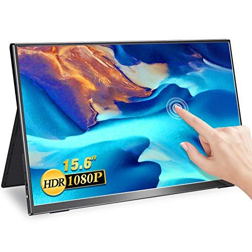 MISEDI モバイルモニター タッチパネル 15.6インチ モバイルディスプレイ ゲームモニター sRGB100%色域 薄型 軽量 広視野角/ウルトラスリムベゼル/フルHD USB Type-C/mini HD PS4/XBOX/Switch/PC/Macなど対応 3年保証 (15.6インチ)