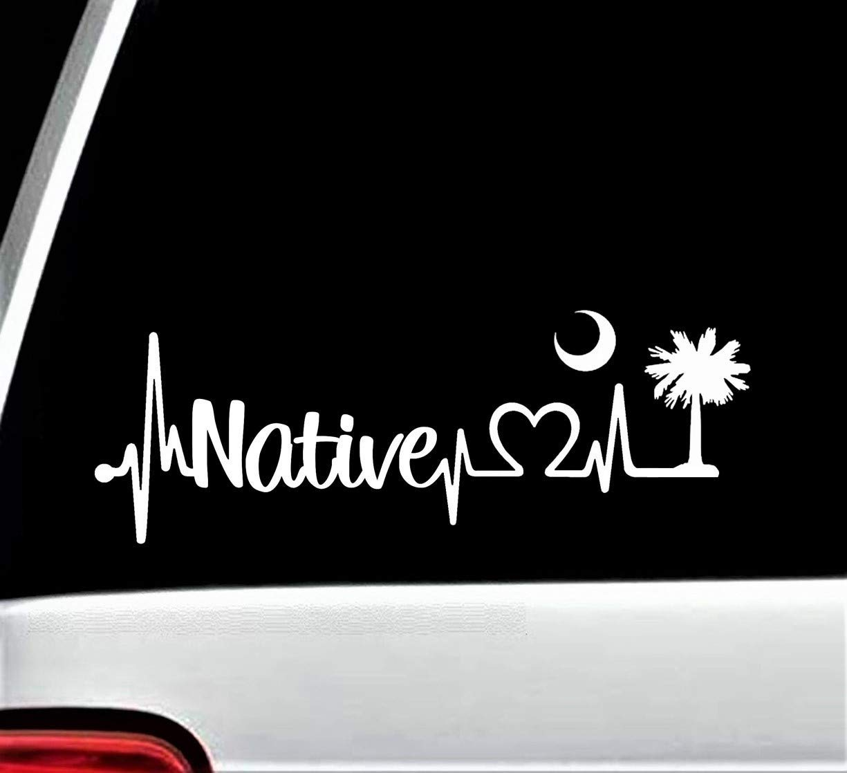 Native Heartbeat Lifeline Max 66% OFF Complete Free Shipping Decal Sticker for BG Inch Window Car 8