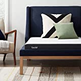 LUCID 5 Inch Memory Foam Low Profile-Cooling Gel Infusion-Hypoallergenic Bamboo Charcoal-Breathable Cover Bed Mattress Conventional, Twin, White