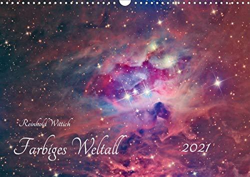 Farbiges Weltall (Wandkalender 2021 DIN A3 quer)