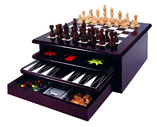 Etna Deluxe 15 in 1 Tabletop Wood Game Center