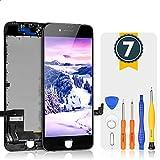 Bokman LCD Pantalla para iPhone 7, Táctil LCD Reemplazo con Herramientas de Reparación(Negro)