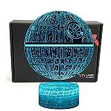TRIPRO LED 3D Illusion ottico Smart 7 colori Night Light Lampada da tavolo con cavo USB