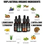 4 Pack Beard Oil Set Leave in Conditioner, Cedarwood, Sandalwood, Sage, Sweet Orange for Men Mustaches Growth, Soften… 3