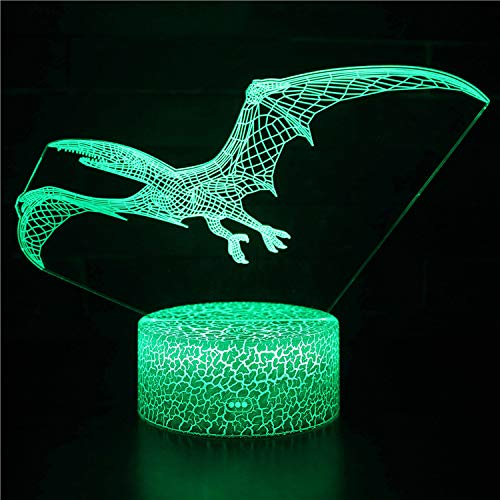 3D Illusion Shark Night Lights Shark Toy 16 Colors Remote Control Desk Night Lamp for Boys Girls Kids Baby Christmas Birthday Gifts,P