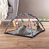 PETMAKER Cat Activity Center- Interactive Play Area Station for Cats, Kittens with Fleece Mat, Hanging Toys, Foldable Design for Exercise, Napping