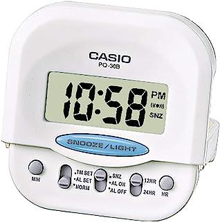 Casio White Digital Quartz Alarm Clock PQ-30B-7EF