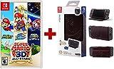 Nintendo Switch Super Mario 3D All-Stars Bundle with PowerA Hybrid Cover - Zelda Hylian Crest Leatherette - Nintendo Switch