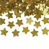Confeti Dorado de Estrellas con Brillo, Confetti de 30g Metalizado Iridiscente, Accesorios para Decorar en Celebraciones, Bodas, Cumpleaños, Graduaciones (Estrella Dorado)