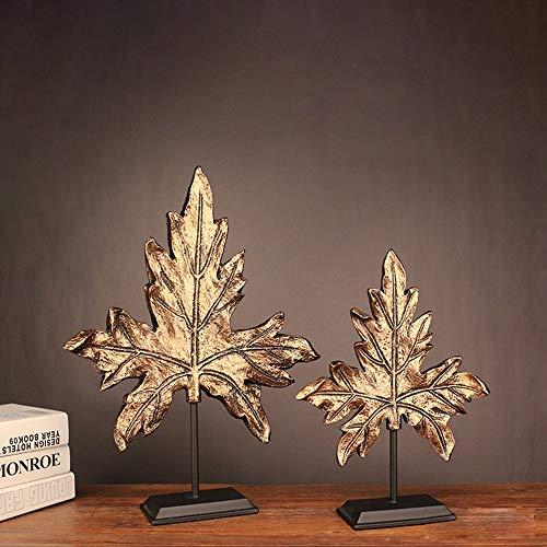 DAMAI STORE Resin Handwerk Stil Zu Hause Veranda Licht Luxus Ahornblatt Verzierungen Nachahmung Kupfer Kreative Geschenke Großhandel