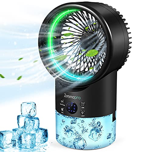 Portable Air Conditioner, Personal Space Evaporative Air Conditioner Fan with 3 Speeds 7 Colors, Personal Air Cooler for Home, Office and Room