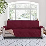 RHF Couch Protectors for Dogs,Reversible Pet Protector Furniture Covers,Sofa Protector Cover,Wide Chair Cover,Couch Covers,Extra Large Sofa Slipcover,Width Up to 78'(Sofa-Extra Wide:Merlot/Tan)