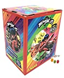 Panini Miraculous Ladybug Super Heroez Team Sticker 1 x expositor – 50 bolsas de pegatinas & Trading Cards además 1 x surtido de frutas Sticker-& Co