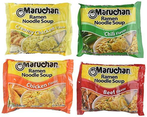 Maruchan Ramen Variety 4 Flavors, Pack of 24