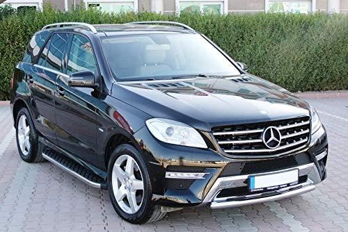 Trittbretter passend für Mercedes Benz ML W166 AMG ab Baujahr 2011 Model Hitit in Chrom mit TÜV und ABE
