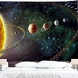 Tapiz planetario espacio exterior galaxy universo colgante de pared dormitorio sala de estar decoración del hogar dormitorio tapiz A6 73x95cm